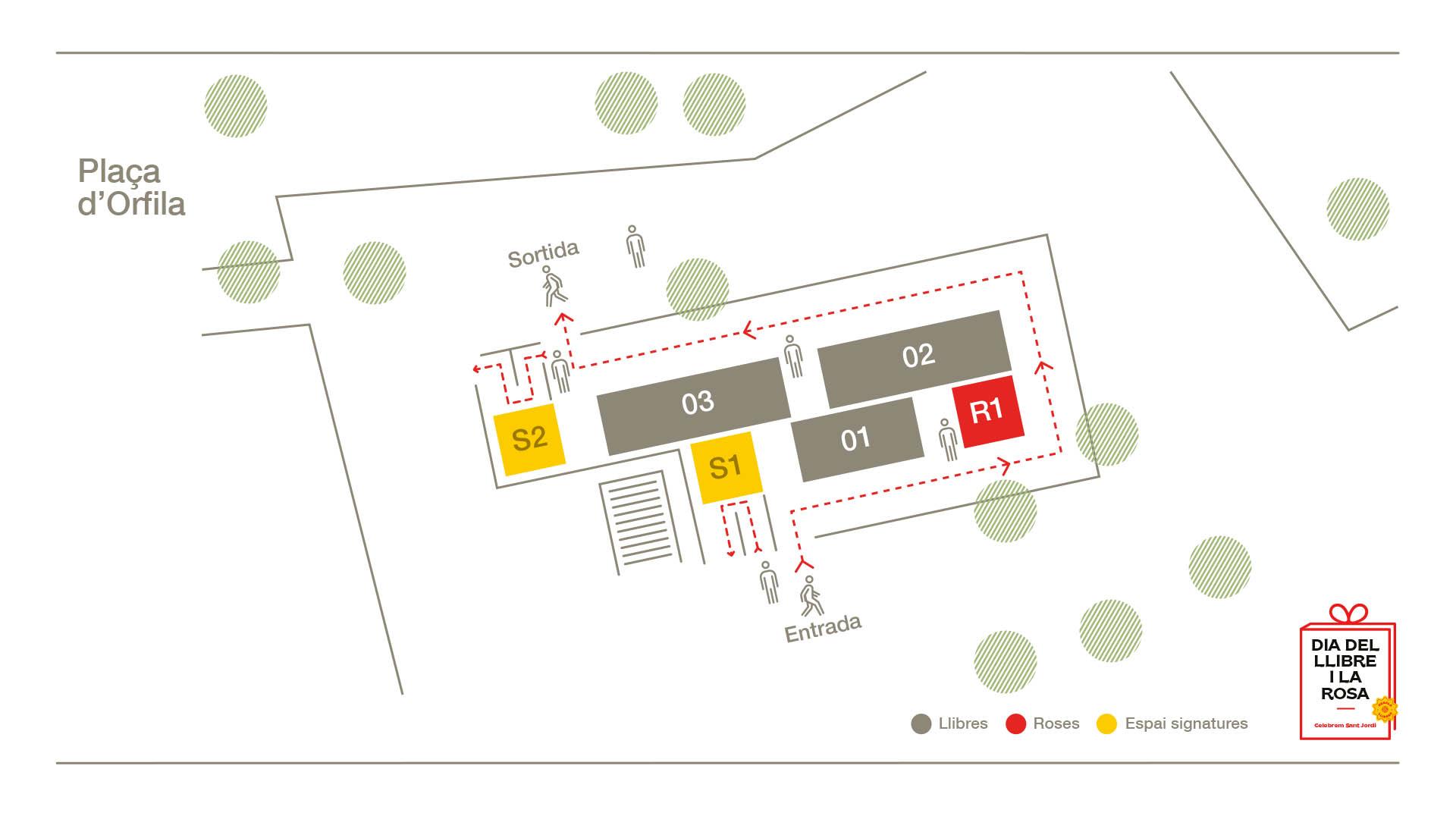 Mapa Plaça Orfila
